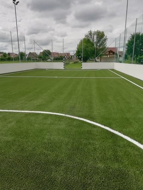 Műfüves focipálya kialakítása